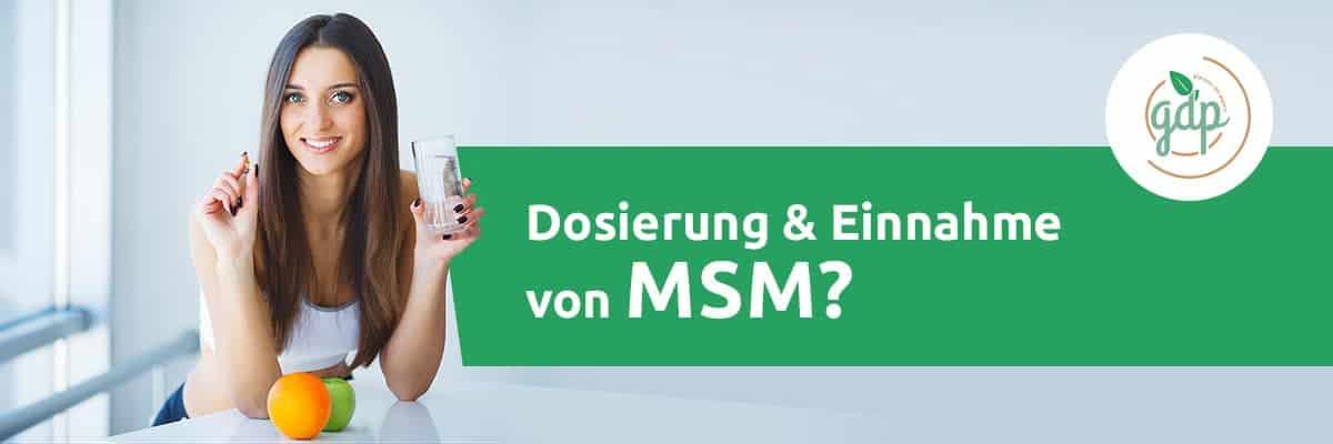 MSM 05 Einnahme