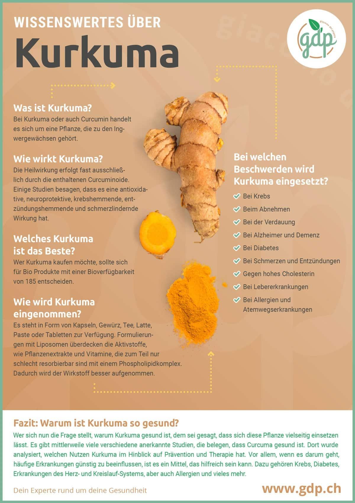 Infografica della curcuma