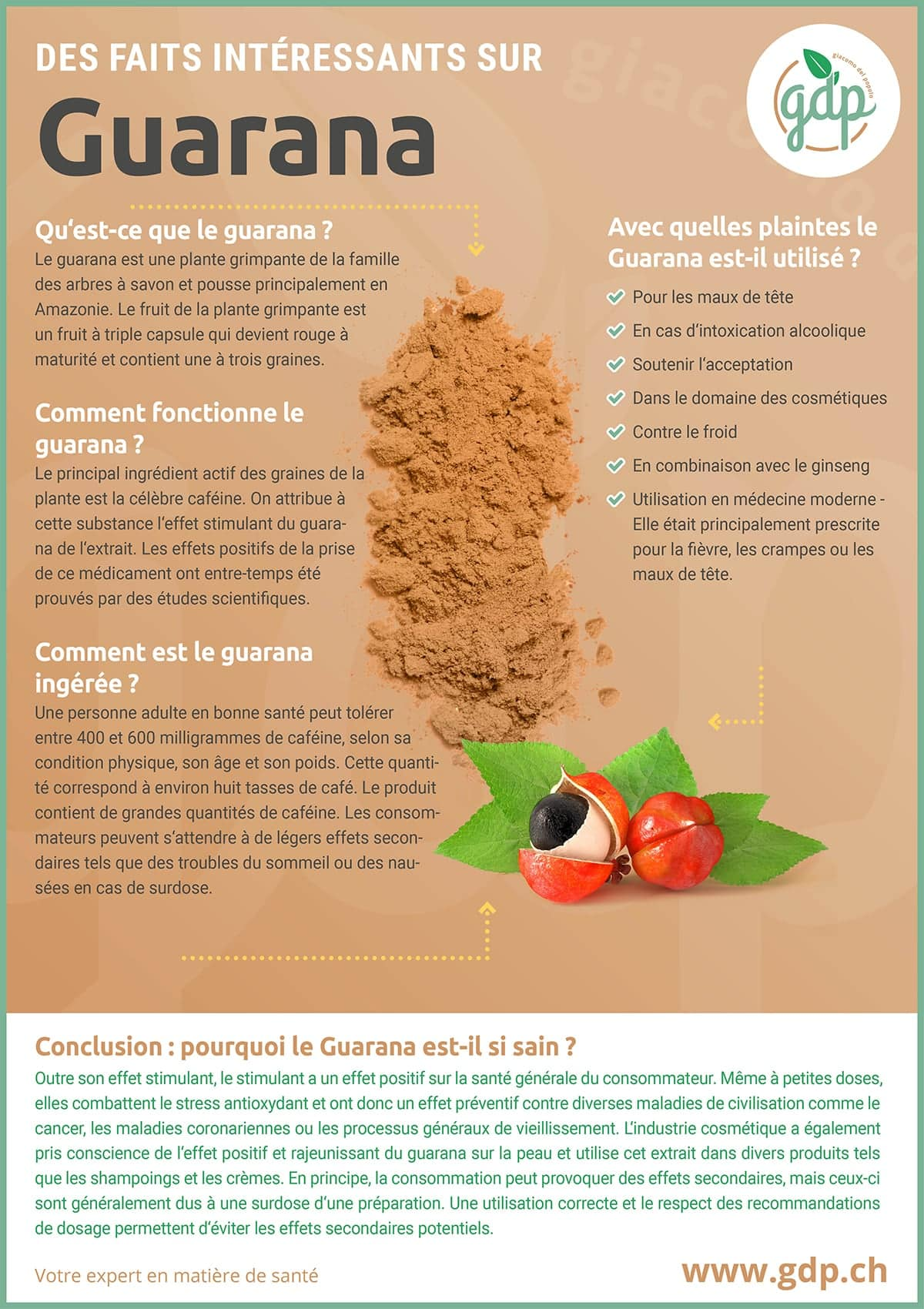 gdp Graphique d'information Guarana