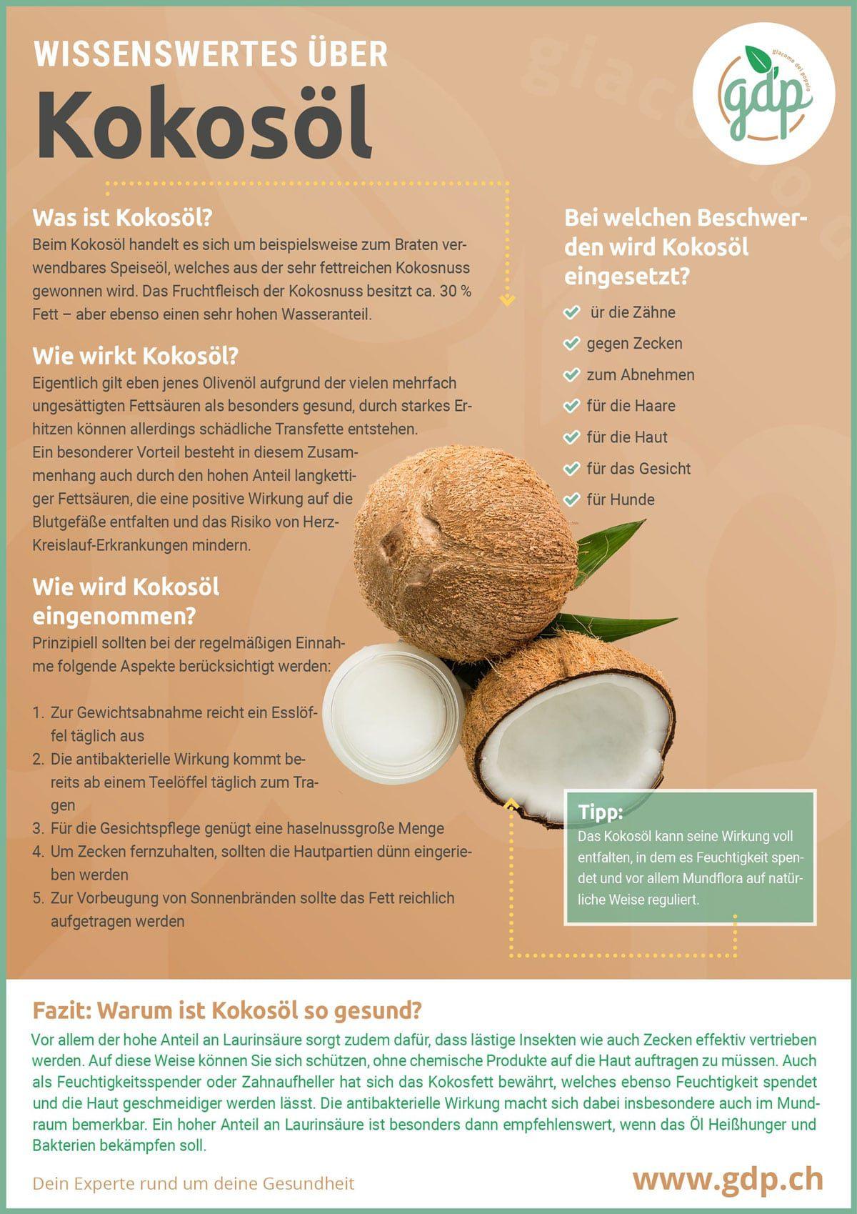 Kokosöl gdp infografik