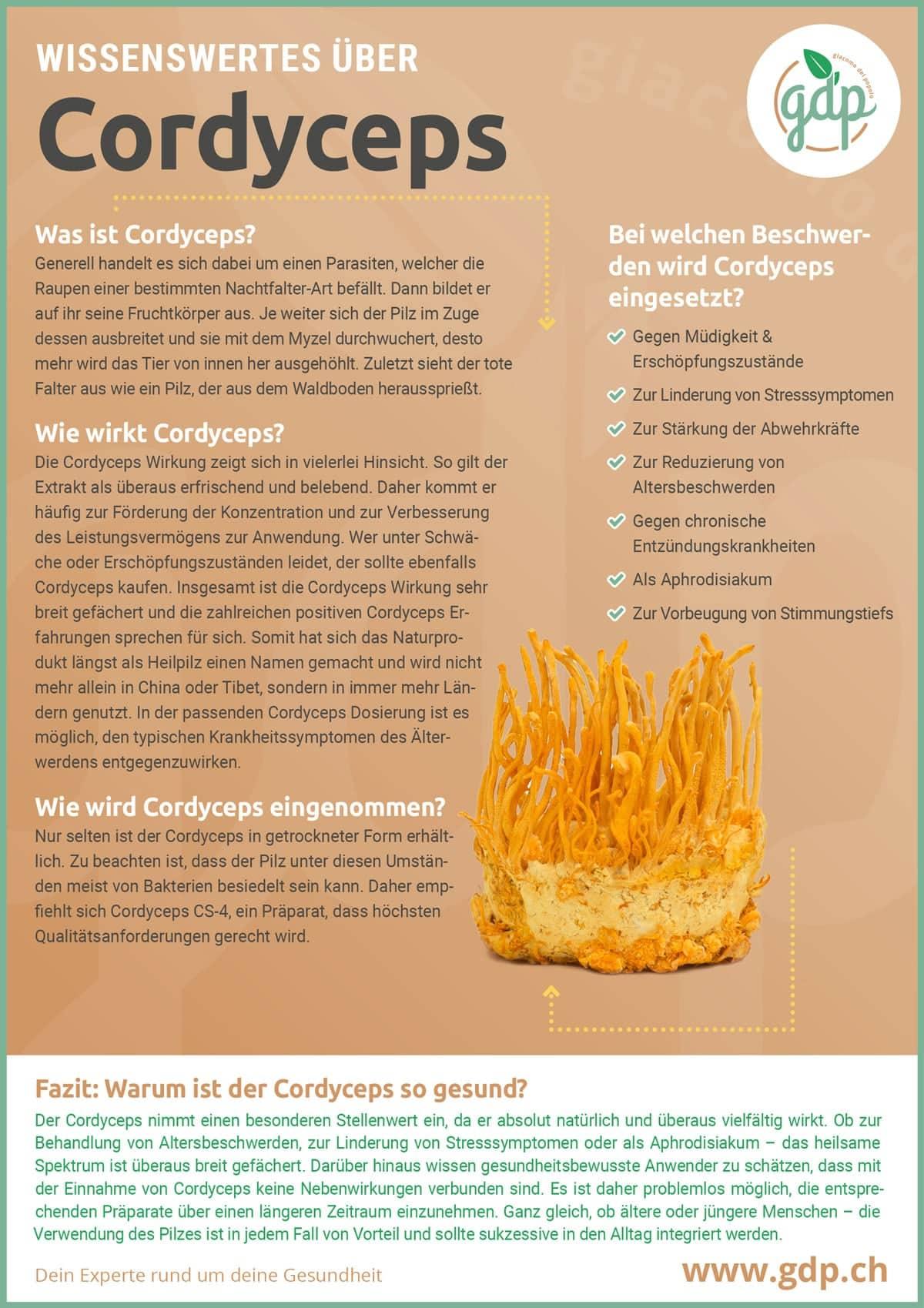 Cordyceps gdp Infografik